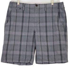 Arizona Jean Co Men's Gray Plaid Shorts 36